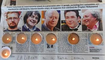 محکومیت ترور روزنامه نگاران و کاریکاتوریستهای مجله طنز «هفتگی شارلی» در پاریس