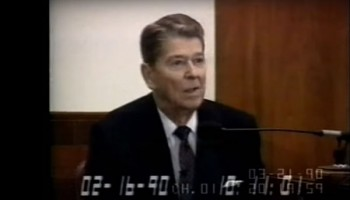 Ronald Reagan Testimony in Iran-Contra Trial - Part 1 (1990)
