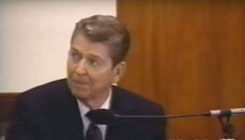 Ronald Reagan Testimony in Iran-Contra Trial - Part 2 (1990)