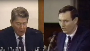 Ronald Reagan Testimony in Iran-Contra Trial - Part 3 (1990)
